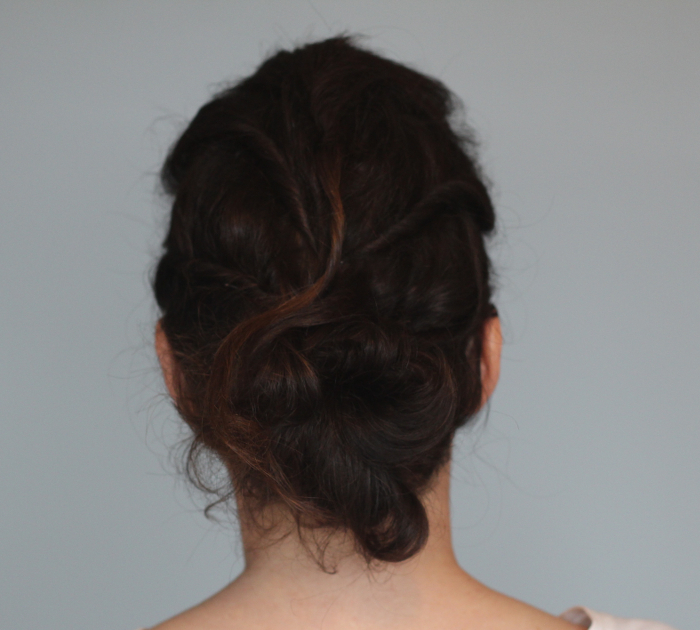 Holiday Hair Updos: Twisted Messy Bun - Step 3 | Beauty Basics
