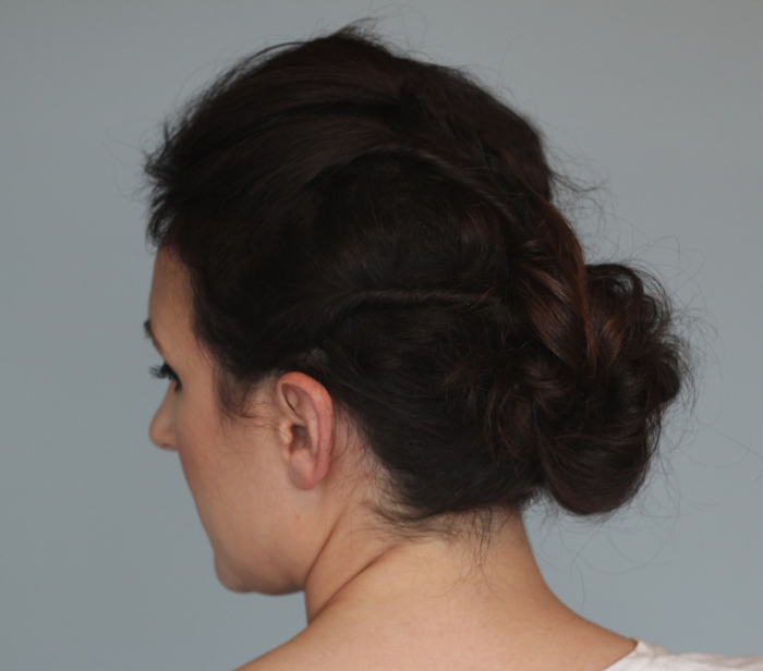 Holiday Hair Updos: Twisted Messy Bun - Step 5 | Beauty Basics