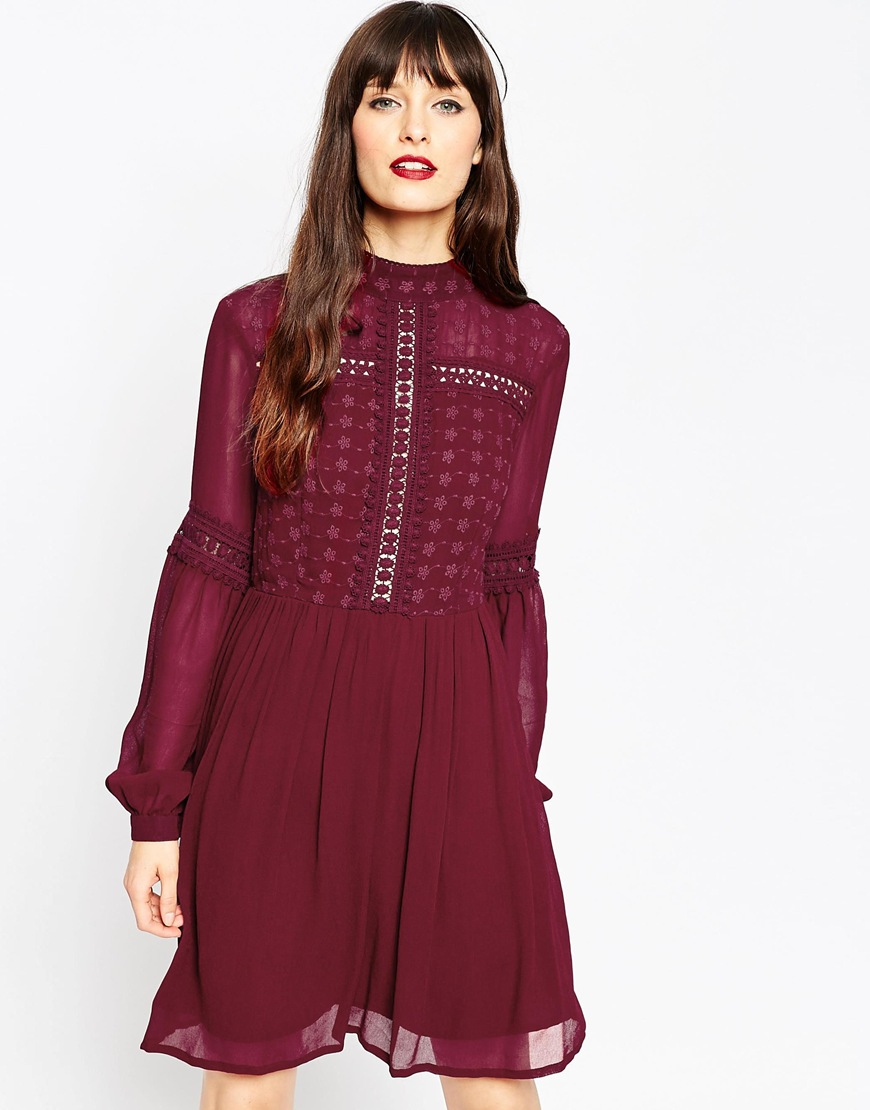 Short and Flirty Valentine's Day Dresses - ASOS Victoriana Skater Dress