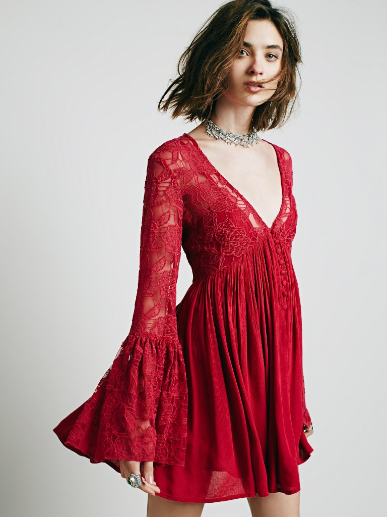 Short and Flirty Valentine's Day Dresses - Free People With Love Dress