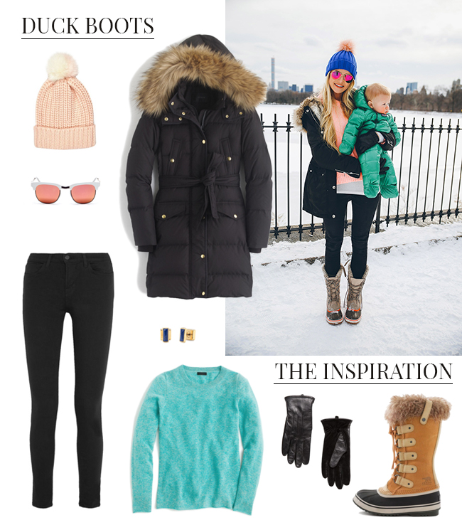 How She'd Wear It with Style and Cheek - Winter Footwear Duck Boots 2