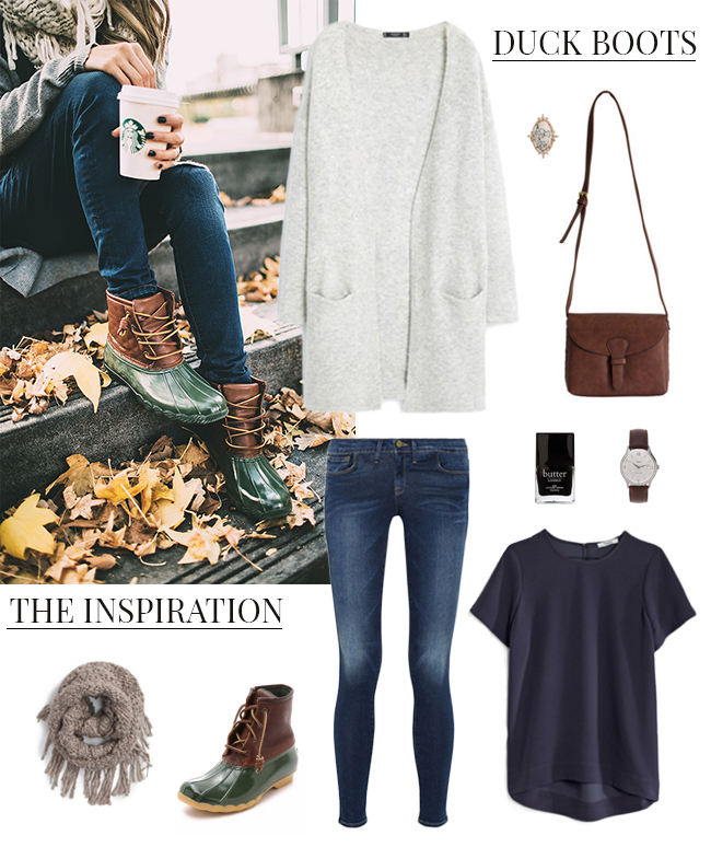 How She'd Wear It with Style and Cheek - Winter Footwear Duck Boots