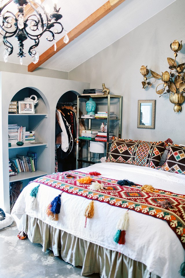 Judy Aldridge Gives Her Home A Boho Thrift Store Makeover