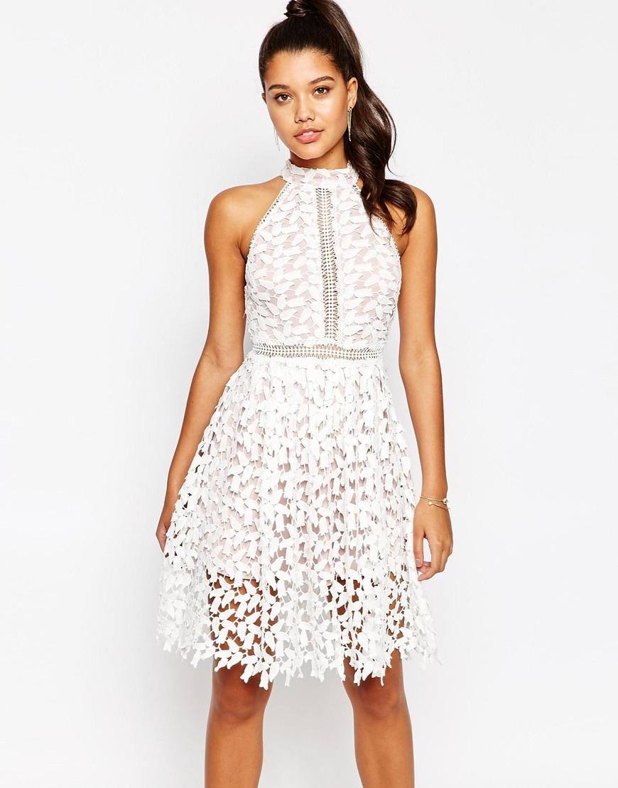 Short and Flirty Valentine's Day Dresses - Love Triangle High Neck Midi Dress