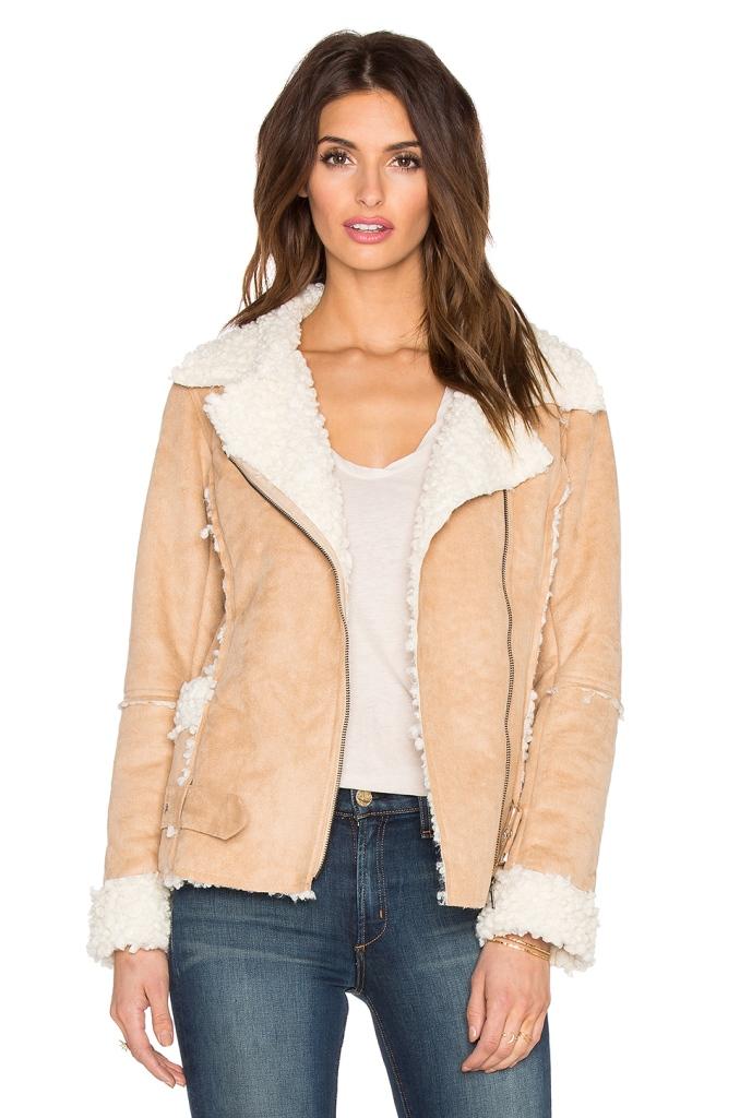 Shearling Biker Jackets - MINKPINK Believe Again Faux Fur Jacket