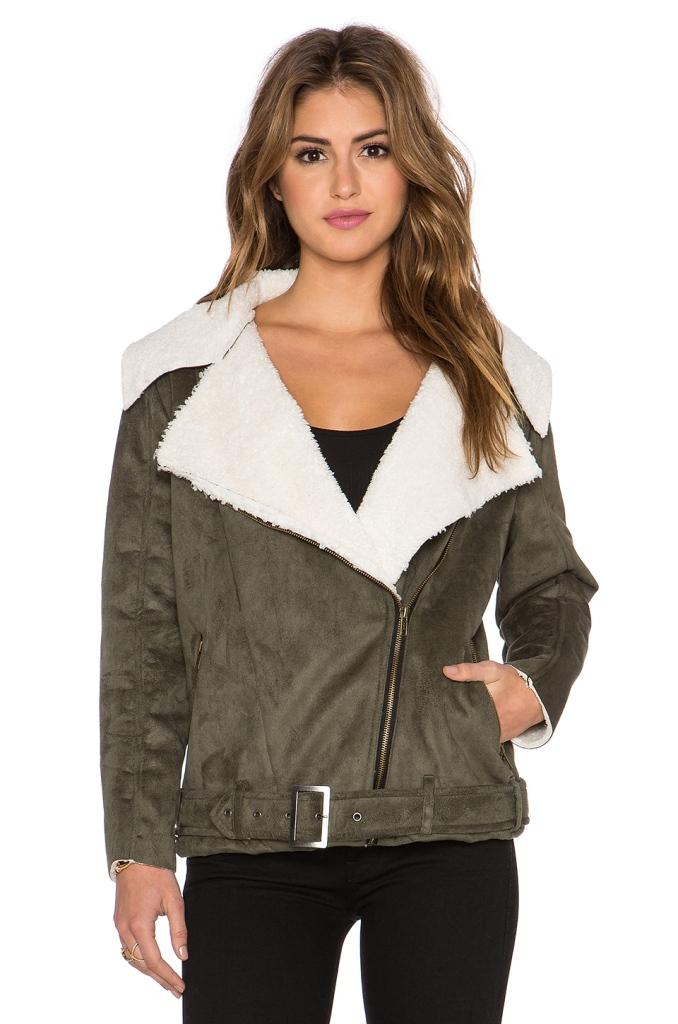 Shearling Biker Jackets - Somedays Lovin Young Folk Faux Sherpa Coat