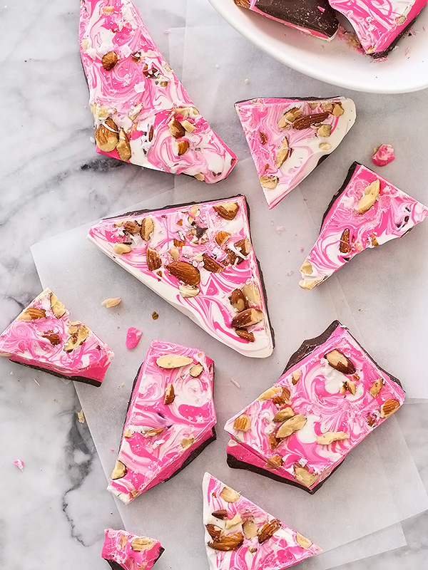 Valentine's Day Ideas - Spicy Chocolate Bark with Chipotle and Almonds | Foodie Crush