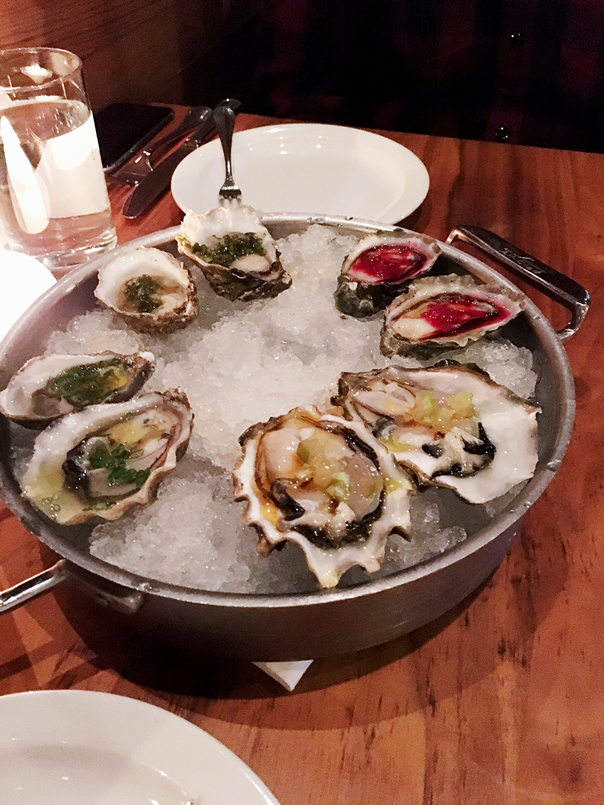 Anchovies and Olives oysters | Birthday Gluttony in Cap Hill