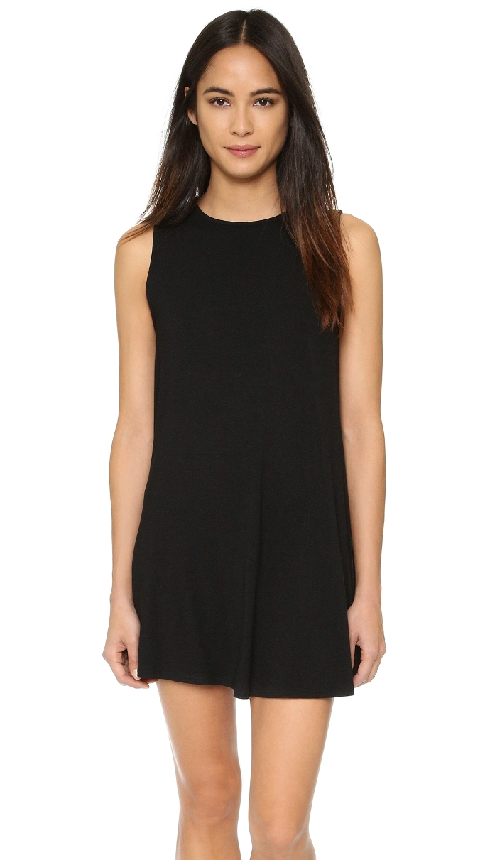 10 T-Shirt Dresses to Wear with a Leather Jacket - CLAYTON June Dress