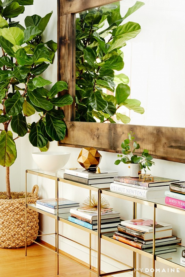 Fiddle Leaf Fig Tree Inspiration - Home Tour: Nina Dobrev's Bright, California-Cool Bungalow | My Domaine