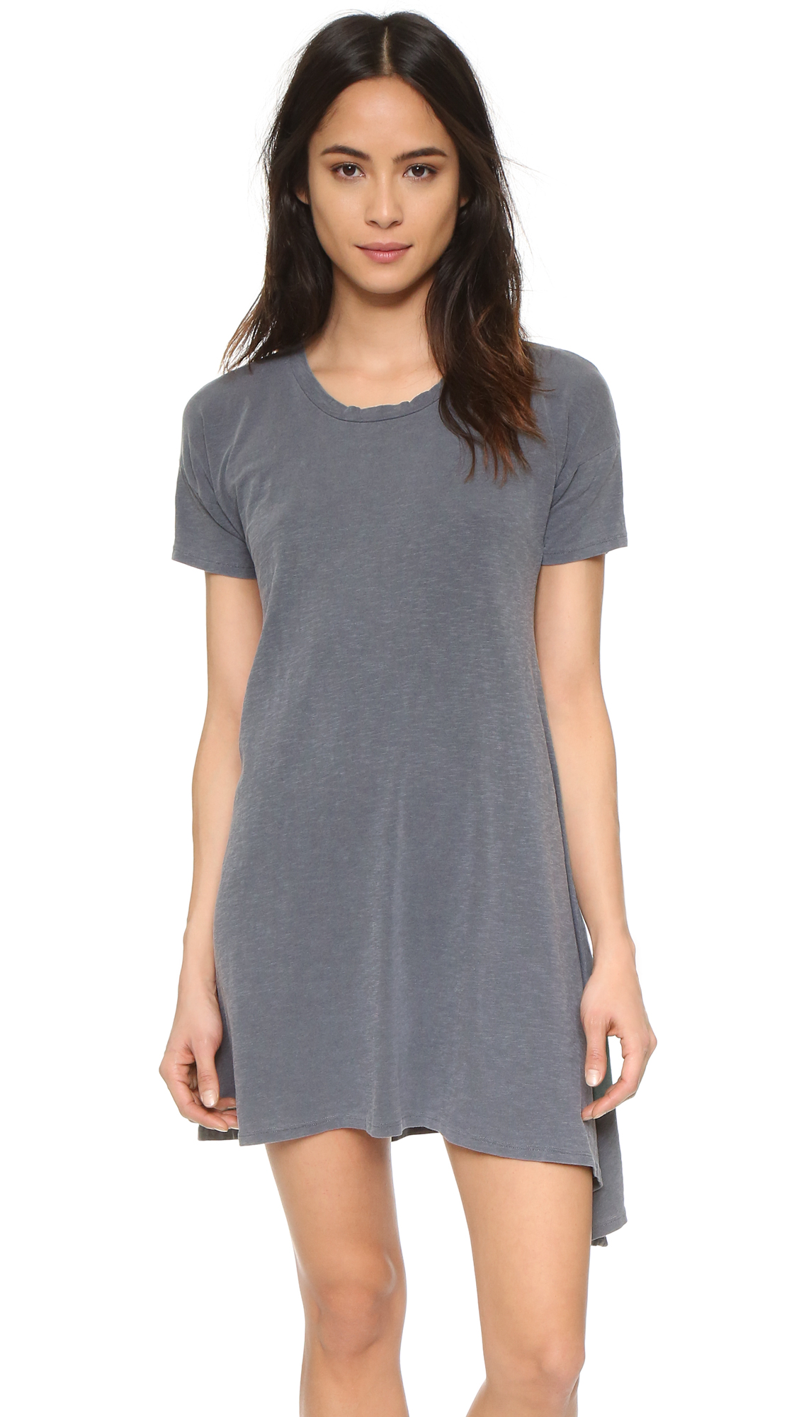 10 T-Shirt Dresses to Wear with a Leather Jacket - SUNDRY Asymmetrical Dress
