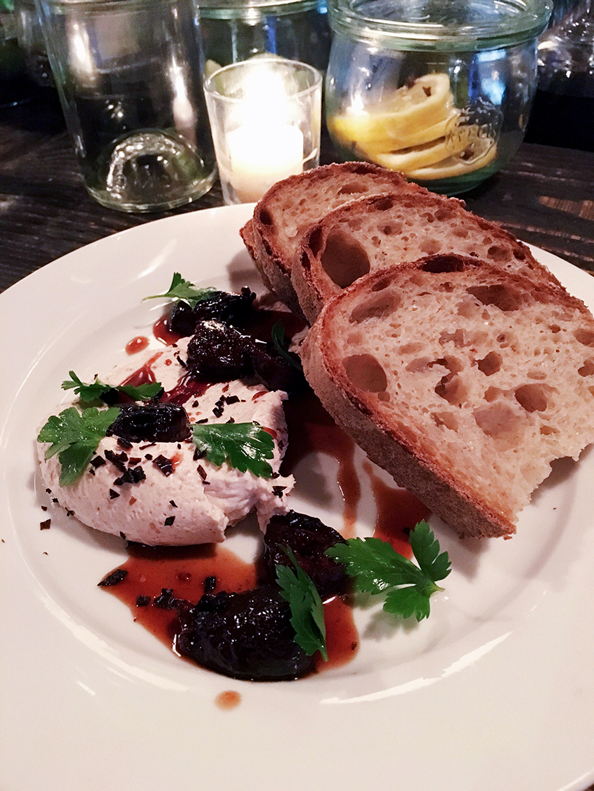Sitka & Spruce whipped lardo, marinated figs, chile negro | Birthday Gluttony in Cap Hill