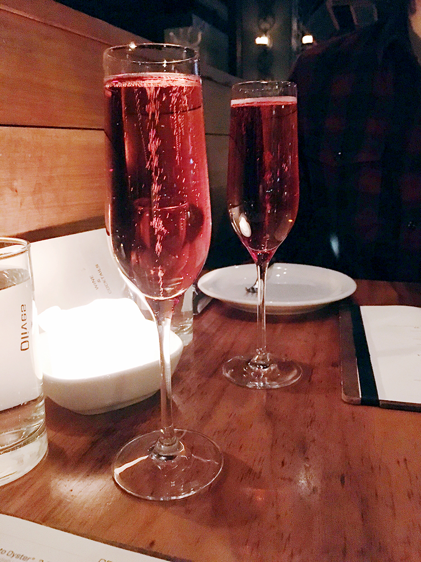 Sparkling rose at Anchovies and Olives | Birthday Gluttony in Cap Hill
