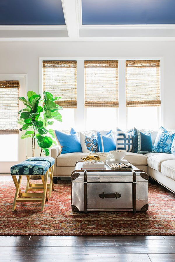 """Fiddle Leaf Fig Tree Inspiration - The """"X"""" Bench Style It Challenge 