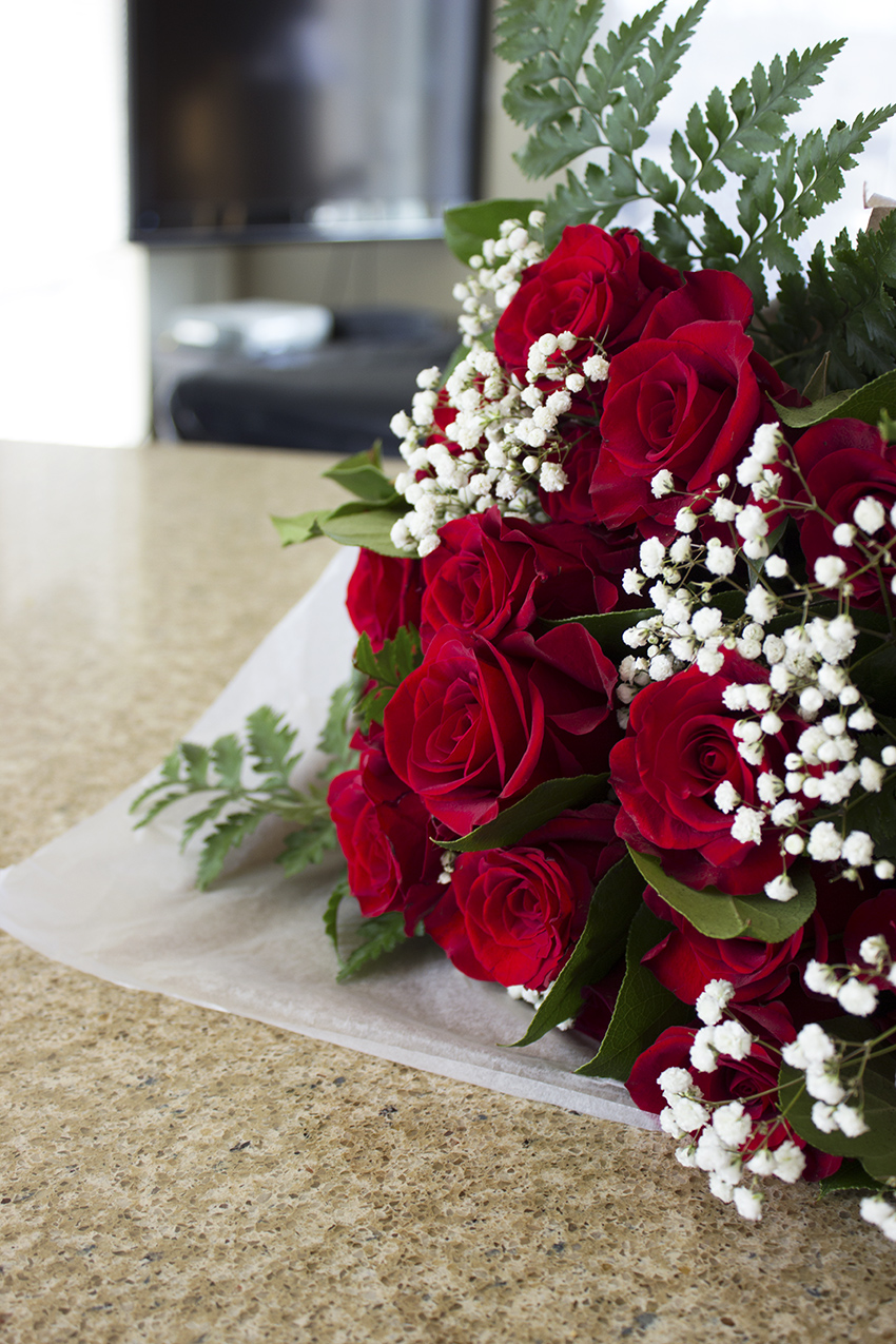 Whole Foods Whole Trade Double Dozen Red Roses Low Key Valentine's Day with Style and Cheek