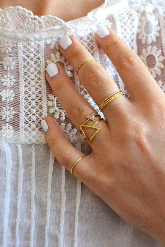 Pinterest Picks White Nails Inspiration