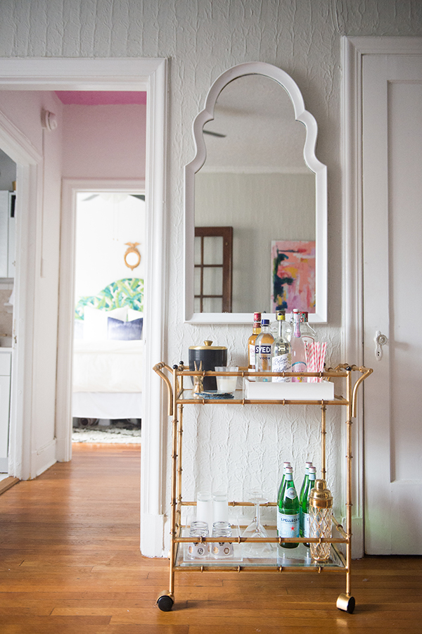 Bar Cart Inspiration - A Layered And Colorful DC Home Tour | Glitter Guide