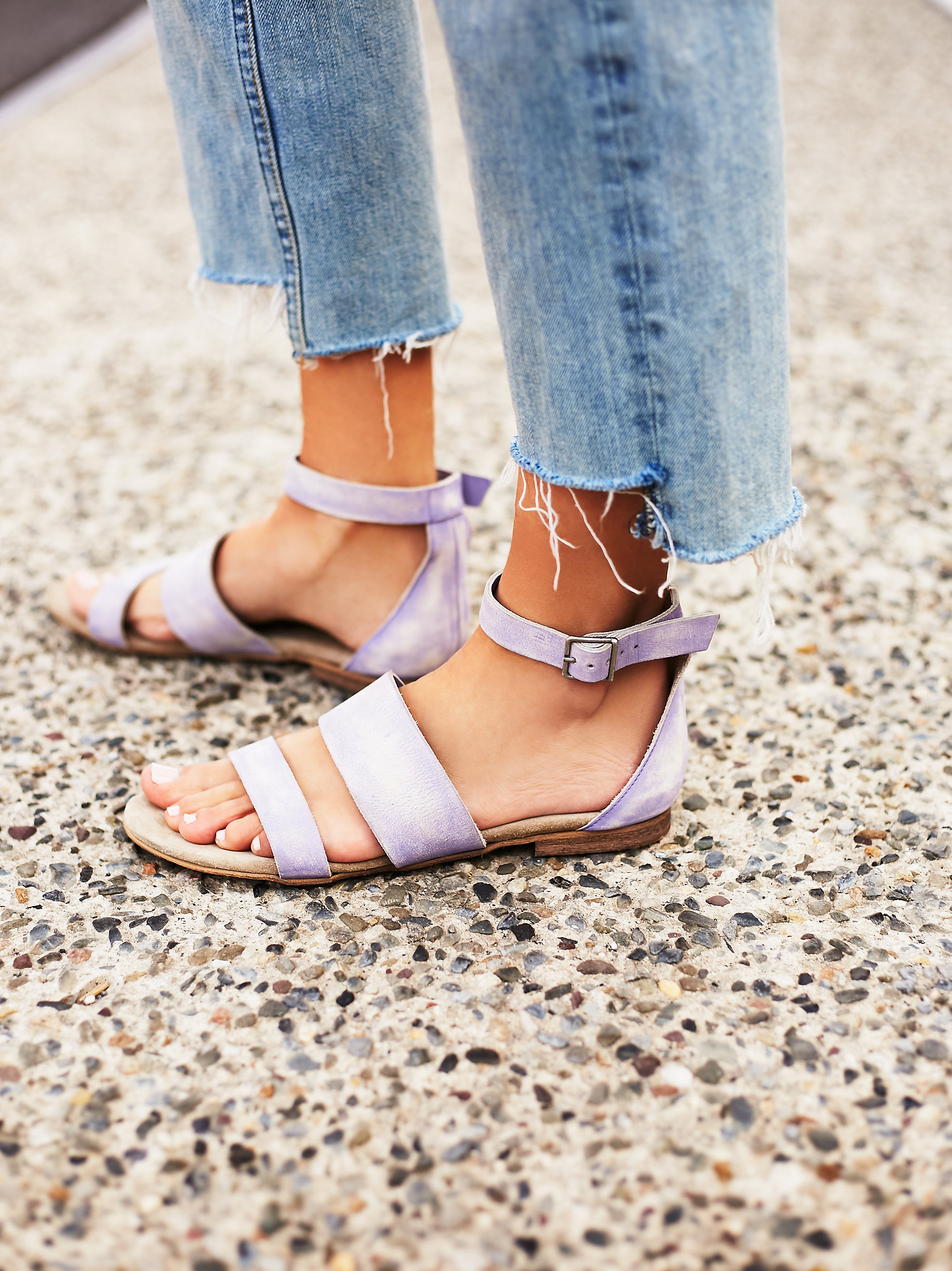 Free People's Sexy Strappy Sandals - FP Collection Crowe Distressed Sandal at Free People Clothing Boutique