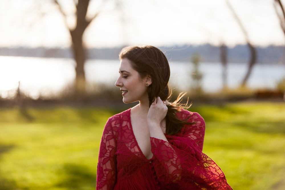 Free People Red Lace Dress - Spring Outfit - Free People With Love Dress | Style and Cheek