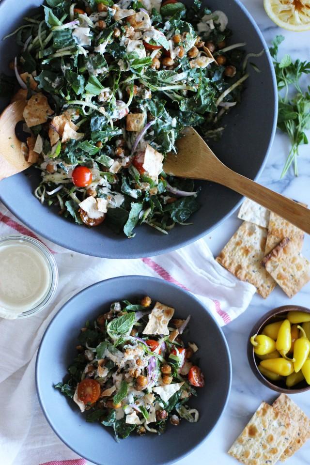 Six Delicious Vegan Recipes - Deconstructed Falafel Salad | Honestly YUM