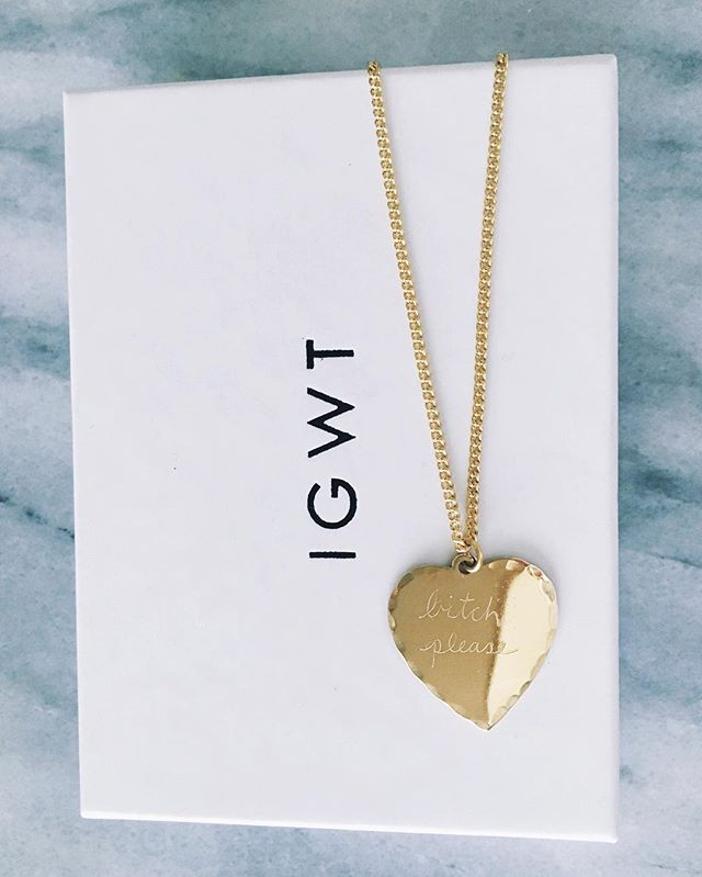 In God We Trust Sweet Nothing Necklace Brass Bitch Please from Instagram Style and Cheek