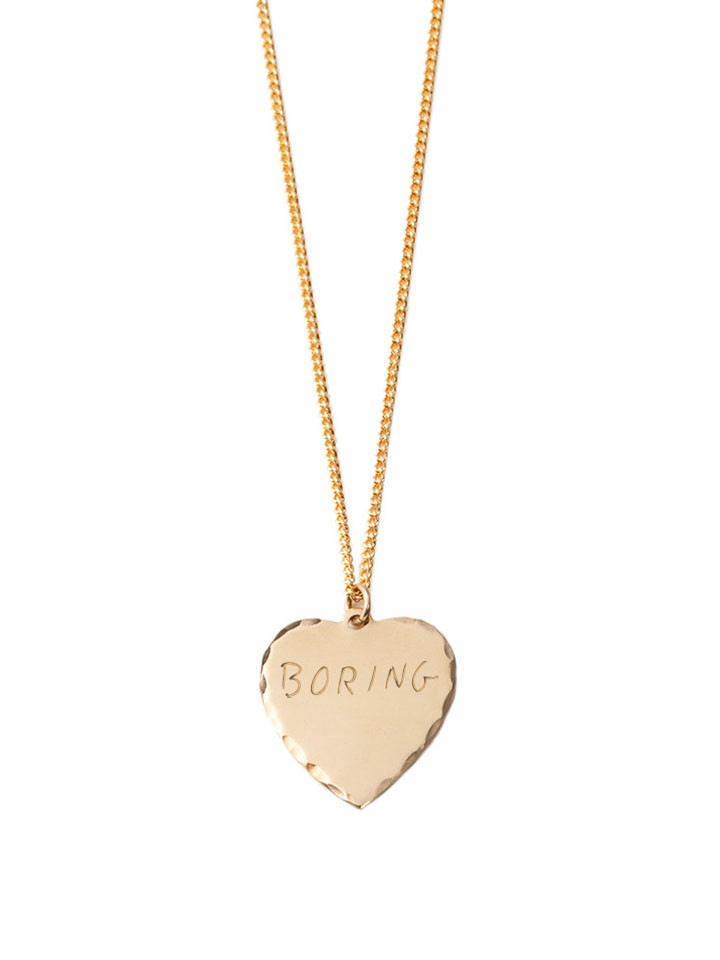 In God We Trust Sweet Nothings Collection - In God We Trust Sweet Nothing Necklace Brass / Boring