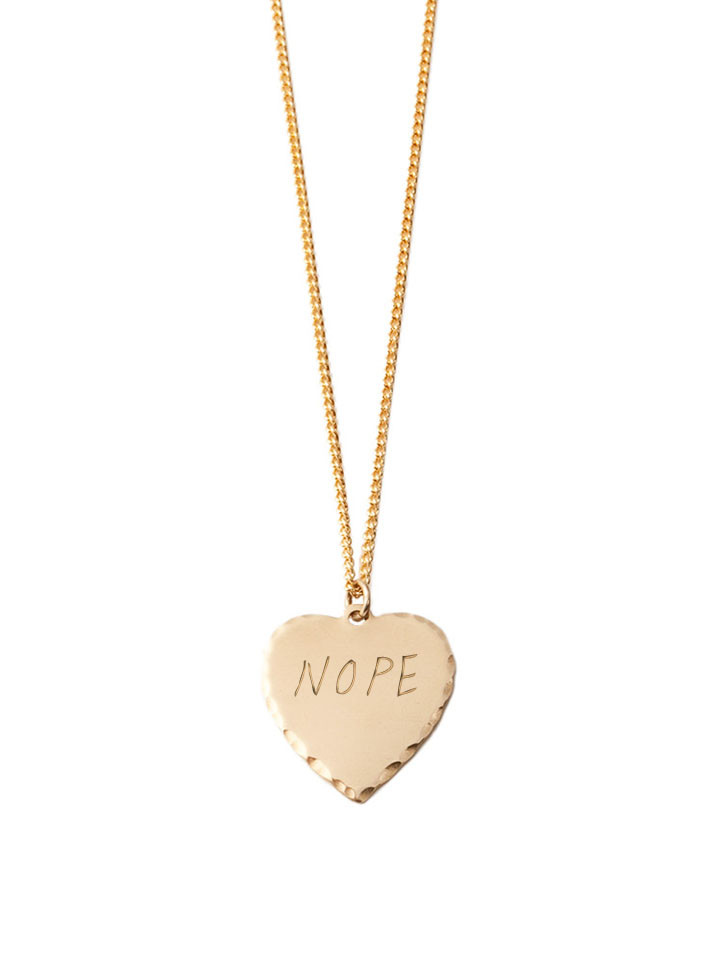 In God We Trust Sweet Nothings Collection - In God We Trust Sweet Nothing Necklace Brass / Nope