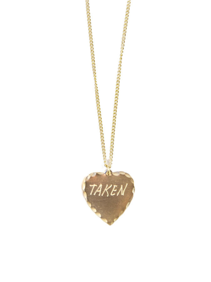 In God We Trust Sweet Nothings Collection - In God We Trust Sweet Nothing Necklace Brass / Taken