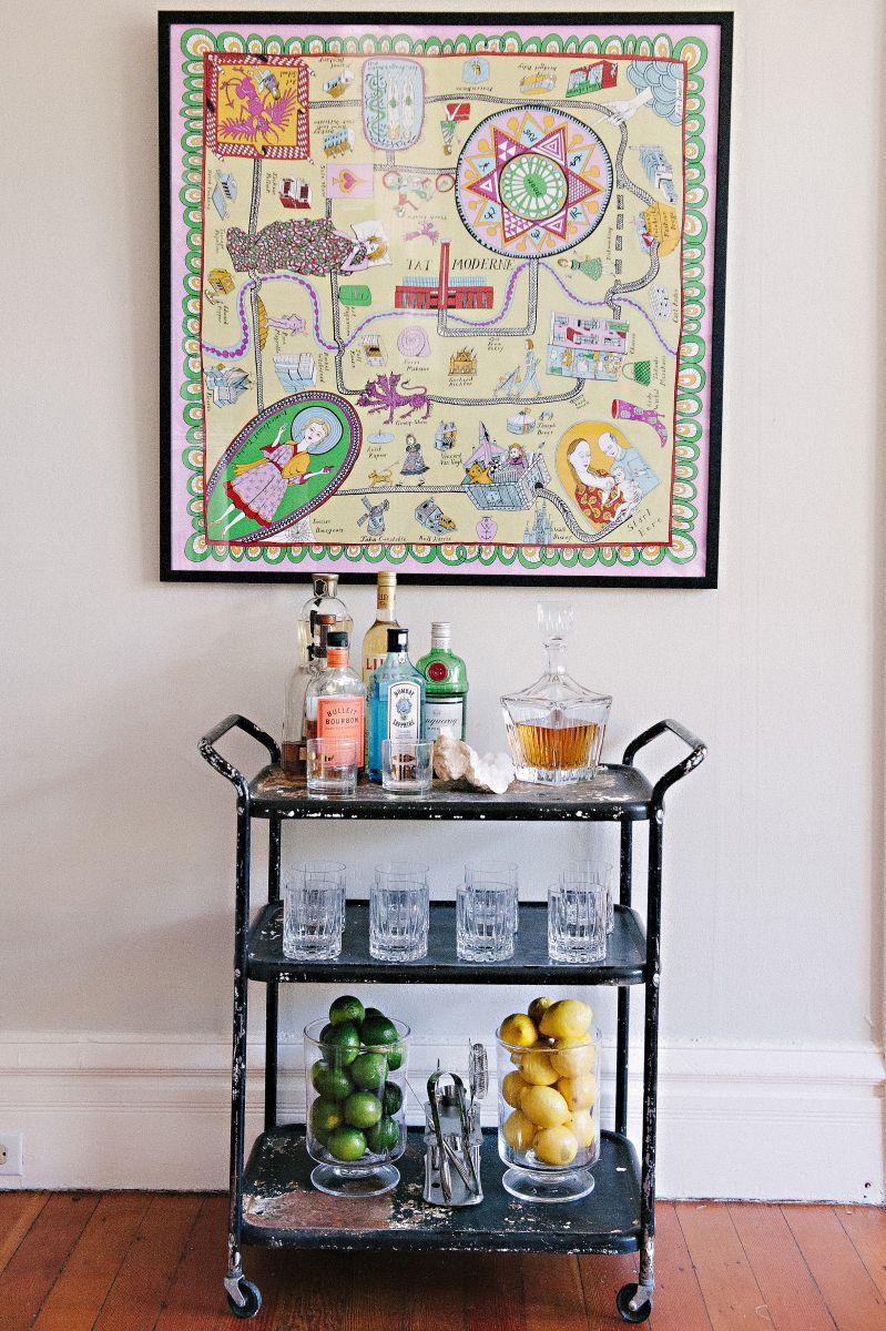 Bar Cart Inspiration - Meg Galligan's San Francisco Home Tour   The Everygirl