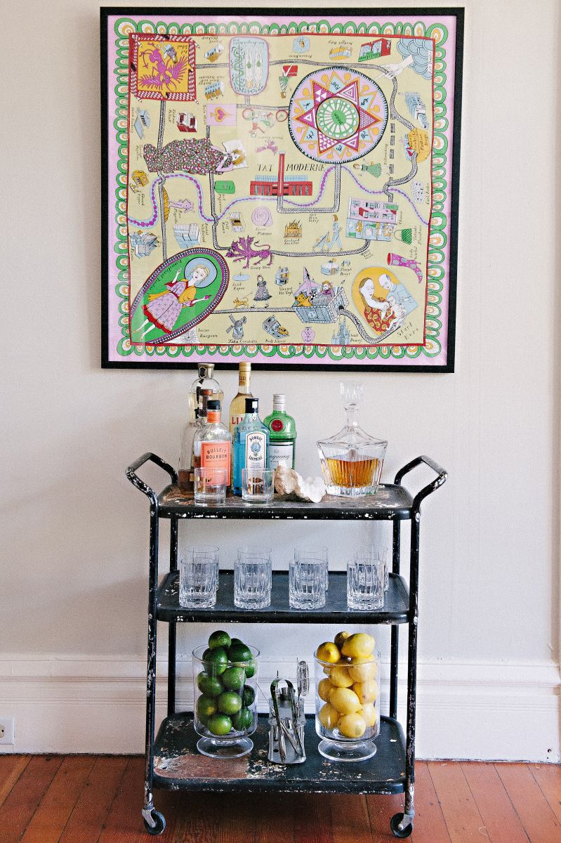 Bar Cart Inspiration - Meg Galligan's San Francisco Home Tour | The Everygirl