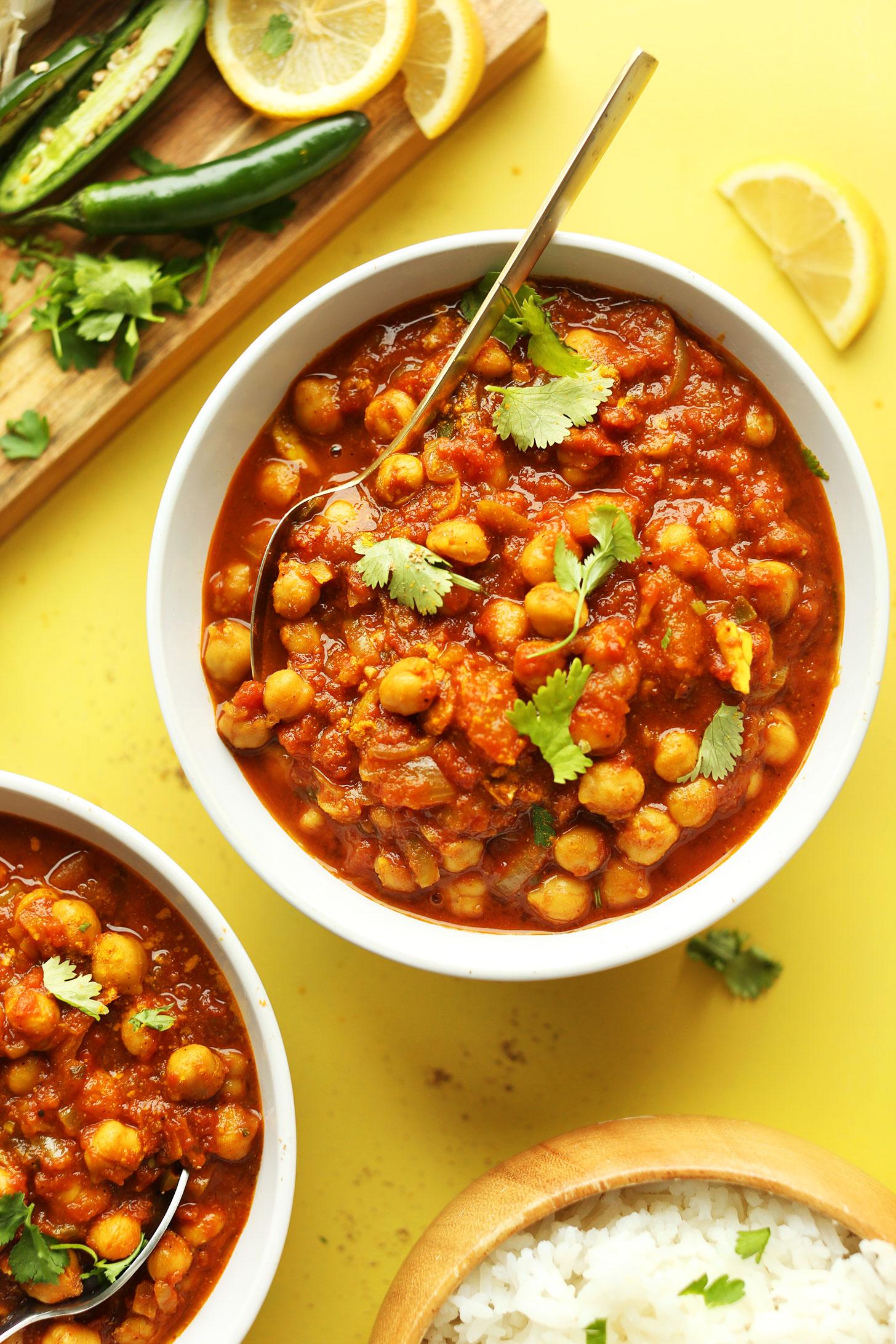 Six Delicious Vegan Recipes - Easy Chana Masala | Minimalist Baker