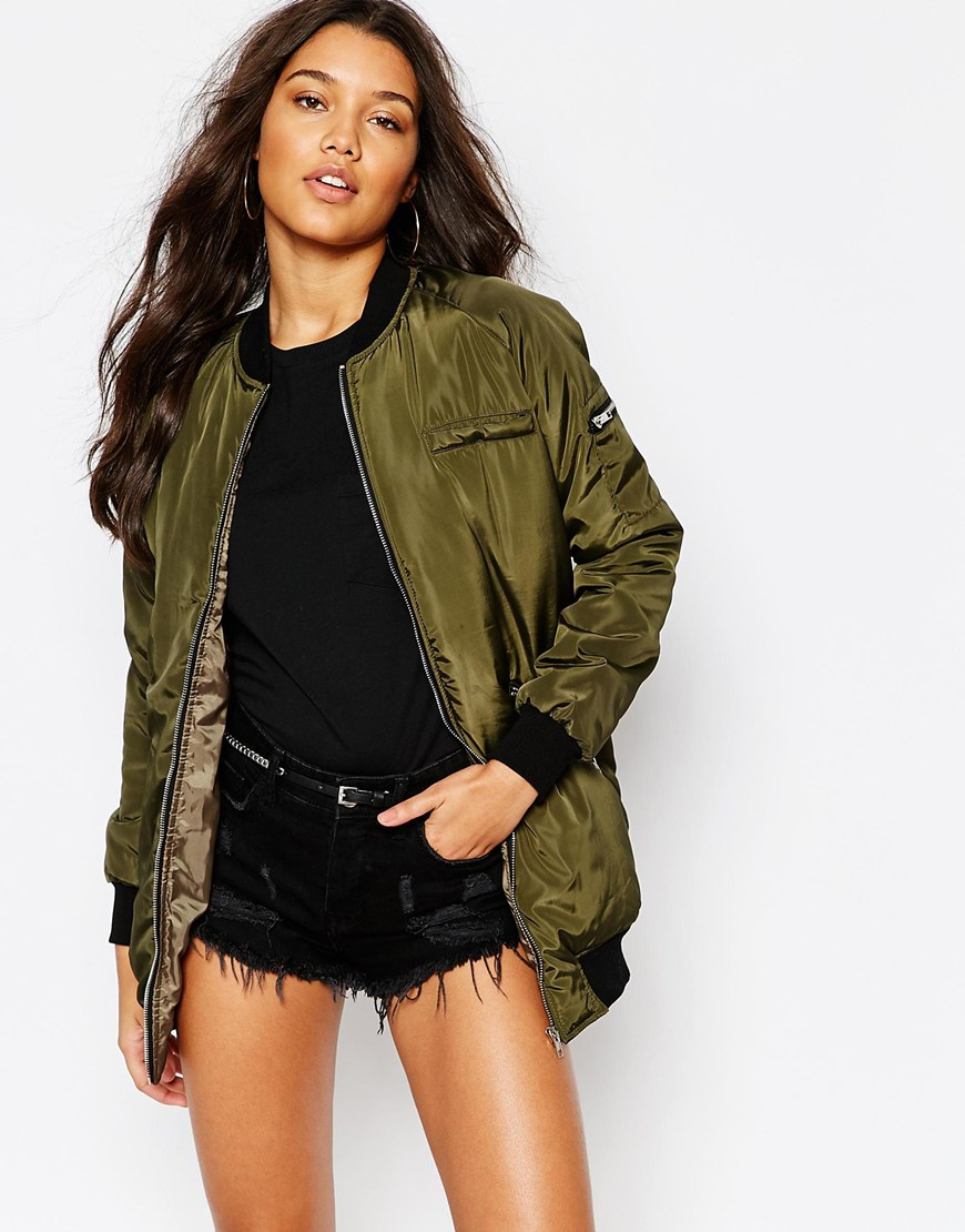 Bomber Jackets for Spring - Missguided Longline Padded Bomber