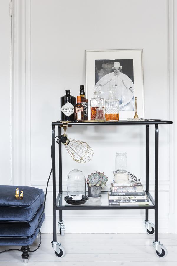 Bar Cart Inspiration - Scandinavian Home   Style Me Pretty Home