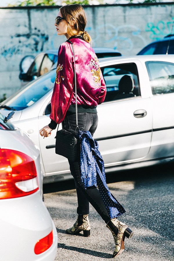 Bomber Jackets for Spring - Street Style   Collage Vintage