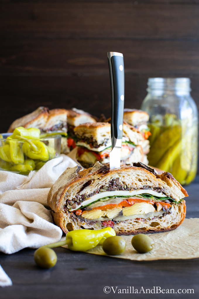 Six Delicious Vegan Recipes - Italian Pressed Sandwich | Vanilla and Bean