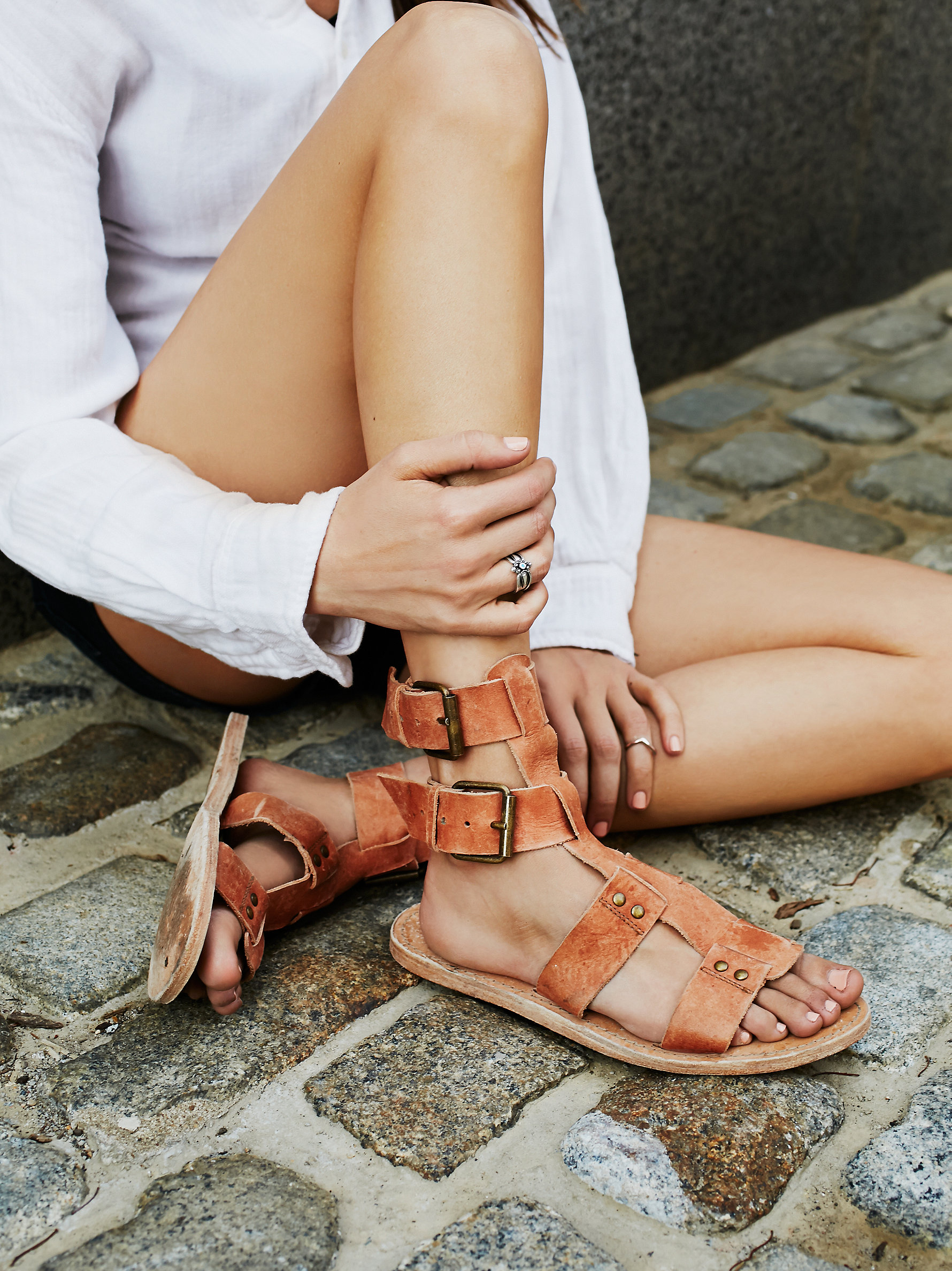 Free People's Sexy Strappy Sandals - faryl robin + Free People Carlyn Mid Gladiator Sandal at Free People Clothing Boutique