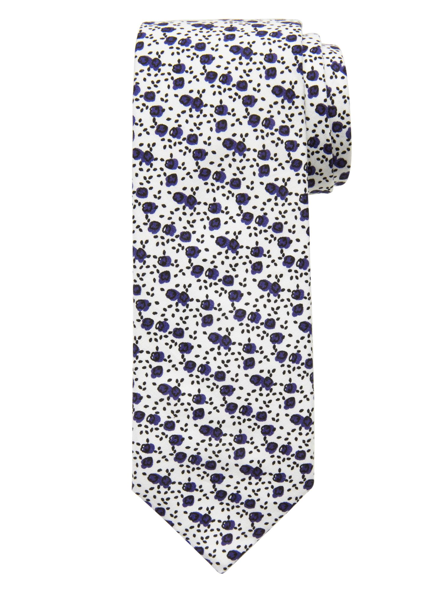 Floral Prints for Guys - Banana Republic Italian Cotton Micro-Floral Tie