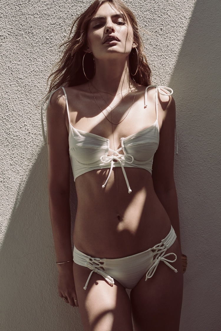 For Love and Lemons Swim Debut Collection 2016 - Riviera Underwire Bikini Top & Riviera Bikini Bottoms