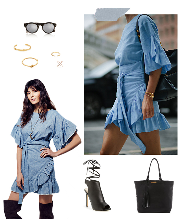 Romantic Ruffle Dresses | How She'd Wear It with Style and Cheek