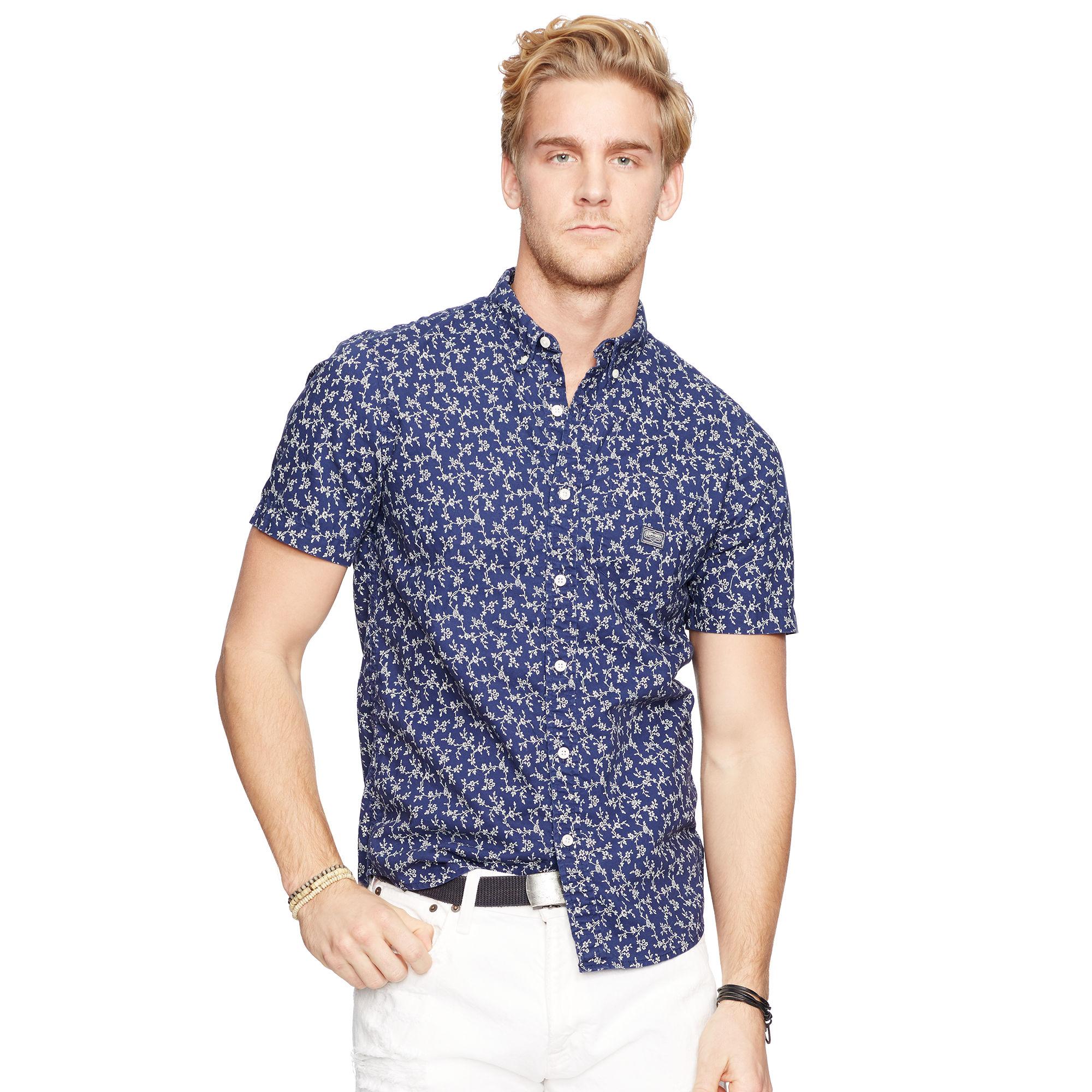 Floral Prints for Guys - Ralph Lauren Floral Poplin Sport Shirt