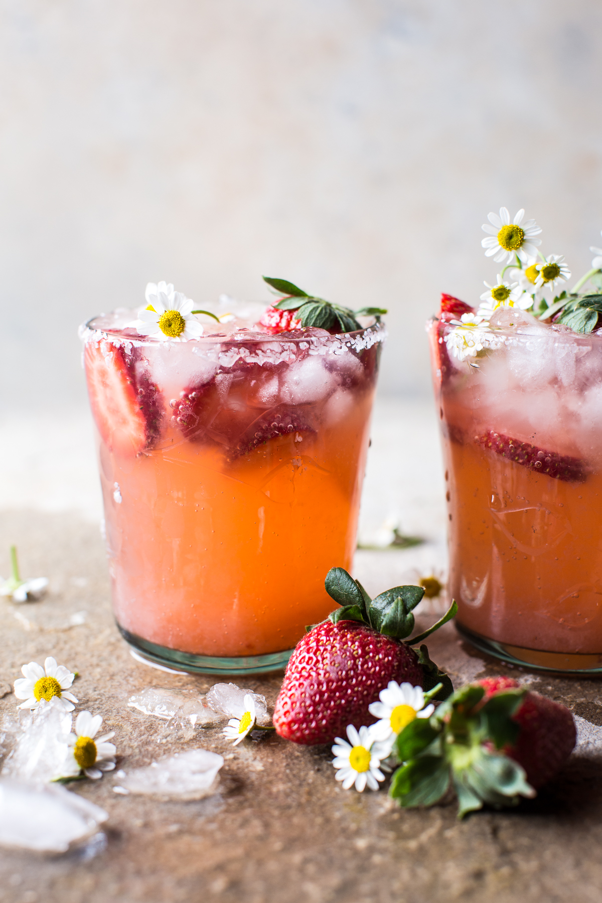 8 Refreshing Spring Cocktails - Strawberry Chamomile Paloma | Half Baked Harvest