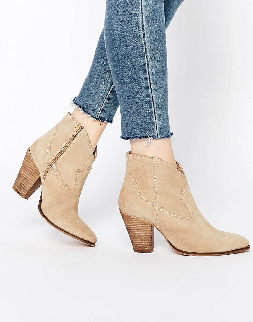 Western Inspired Boots - ASOS RANCH Suede Western Boots