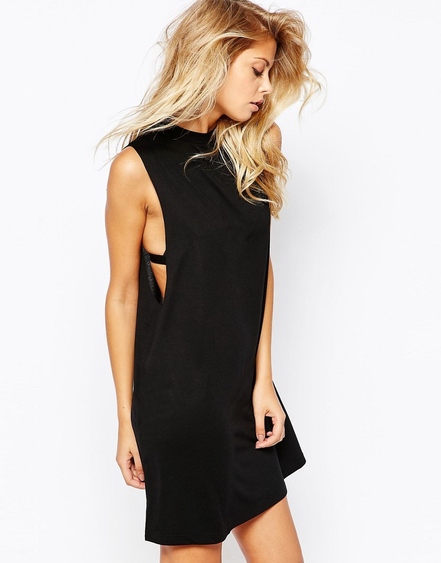 ASOS T-Shirt Dress with Drop Armhole - Casual Little Black Dresses