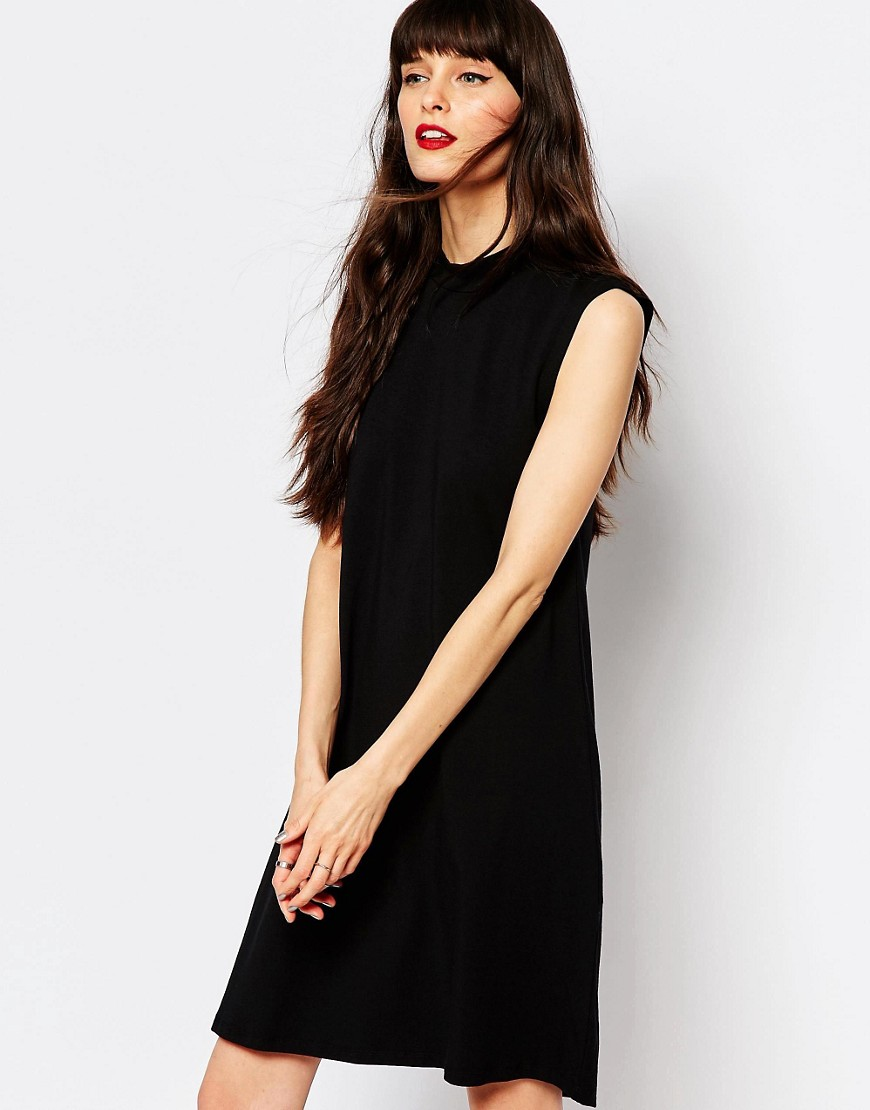 Just Female Trapeze Dress in Jersey - Casual Little Black Dresses