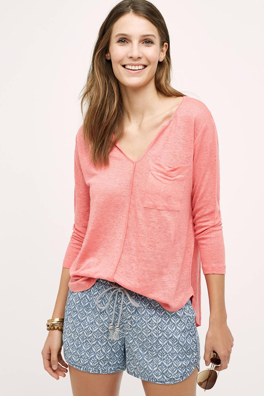 Level 99 Chambray Drawstring Shorts - Shorts Shopping