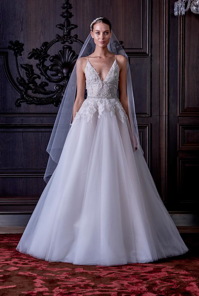 Monique Lhuillier Spring Summer Bridal Collection 1-lv - Spring/Summer Wedding Dress Inspiration