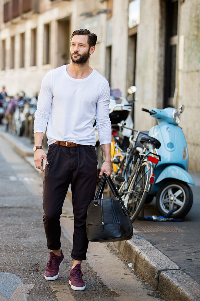 Spring Menswear Style Inspiration - Street Looks from Milan Menswear Week Spring:Summer 2016 En savoir plus sur | Vogue Paris