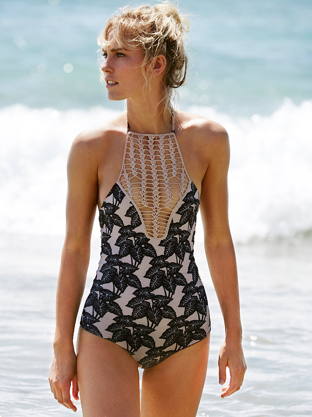 Teaehupo'o Full Piece Print at Free People Clothing Boutique - One Piece Swimsuits