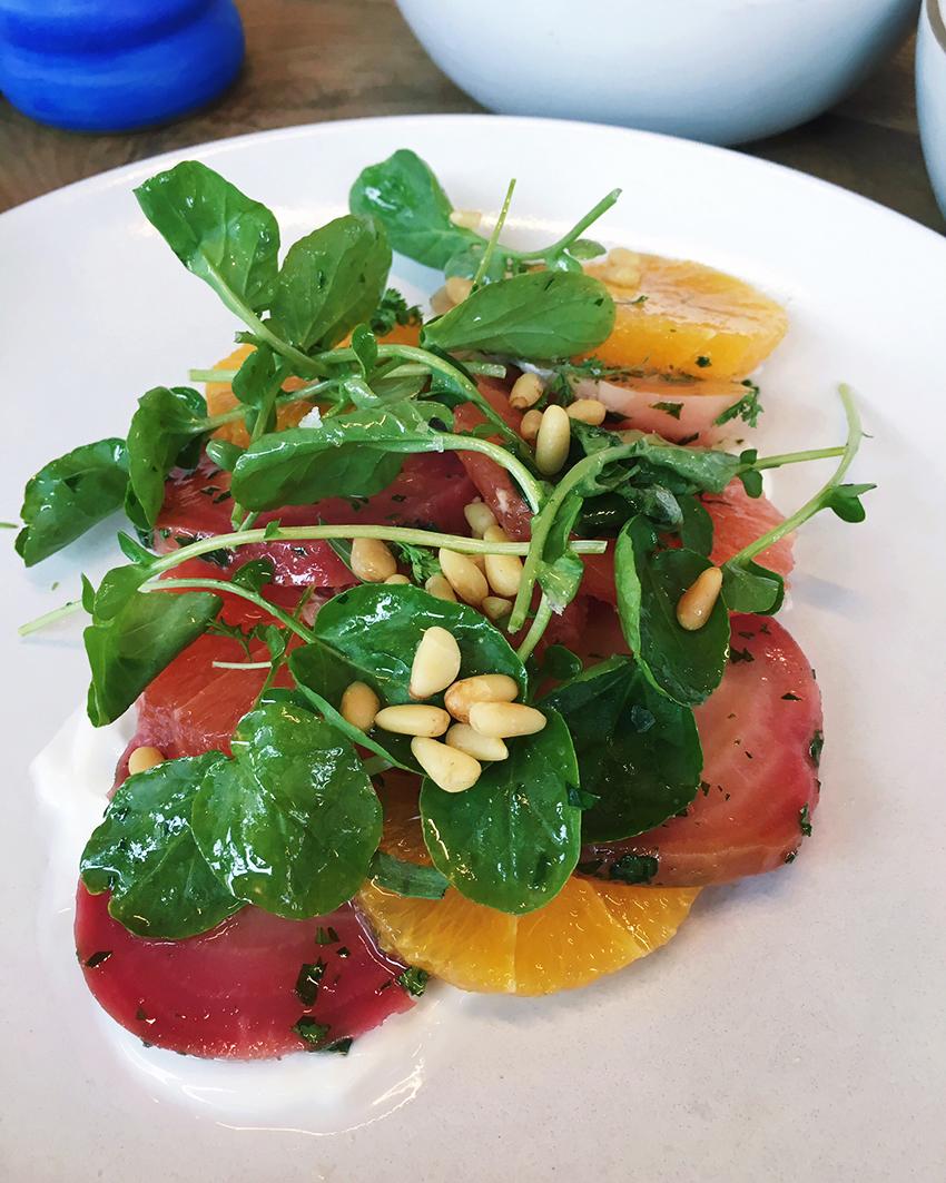 Café No Sé - grapefruit and beet salad - Five Restaurants to Try in Austin
