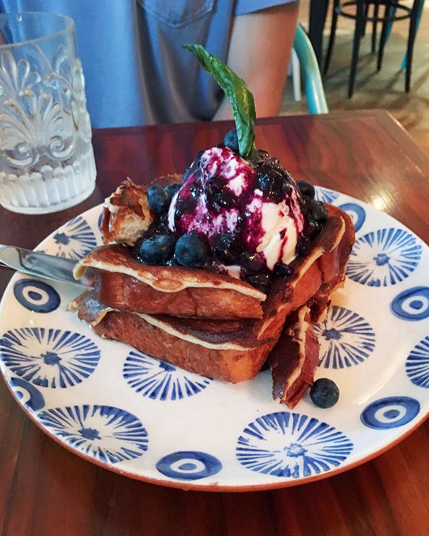Elizabeth St. Café - brioche french toast - Five Restaurants to Try in Austin